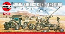 "New Airfix 1:76th Scale ""Vintage Classics"" Bofors 40mm Gun & Tractor Model Kit."