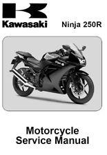 Kawasaki Ninja 250R 2008 2009 2010 2011 2012 250 R service manual on CD