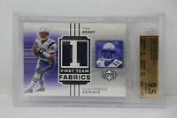 2002 Upper Deck First Team Fabrics #FTTB Tom Brady Patriots 🔥 Beckett 9.5