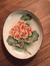 Gerold Porzellan Bavaria West Germany Begonia Trinket Dish