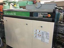 HITACHI DSP-45A6IIM-100 OIL FREE 60 HP COMPRESSOR SYSTEM W/ DRYER , 1060 GAL. TA