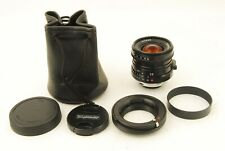 844 Voigtlander Ultron 28mm f/2 VM for Leaica M *EXC+++* w/ Sony E Mount Adapter
