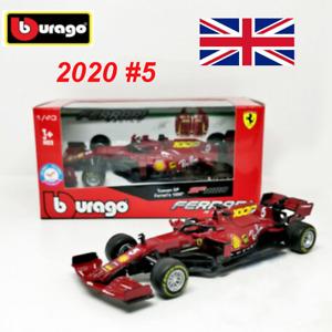 Bburago 1:43 F1 2020 Ferrari SF1000 #5 Sebastian Vettel Diecast Car Model