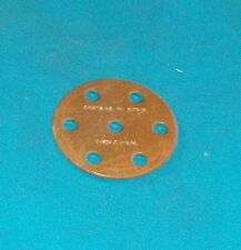 meccano laiton 1 disque 6 trous, No24c