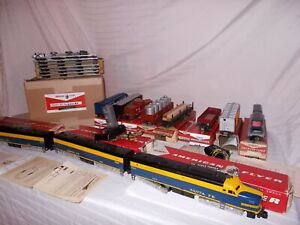 AMERICAN FLYER 5680RH RARE SANTE FE PA-PB-PA SET WITH BOXES NICE SET LOT #L-152
