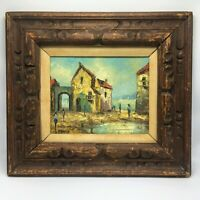 Coastal Landscape Oil Painting on Canvas Wood Frame