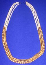 "Ivory and Gold Pearl 43"" Necklace by Lenox - SHIPPING INCLUDED"
