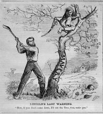 ABE LINCOLN CHOPPING DOWN SLAVERY TREE PROVISIONAL EMANCIPATION PROCLAMATION