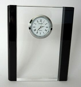 Crystal Table Clock-(made of quality K9 30% Lead Crystal)- model: TCLK-1