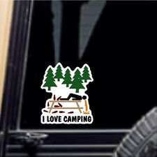 I Love Camping Car Decal Laptop Sticker Car Decal Funny Sticker