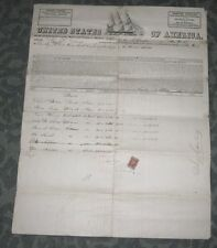 1866 UNITED STATES OF AMERICA NEW YORK CITY MARINERS DOCUMENT - NYC TO COW BAY