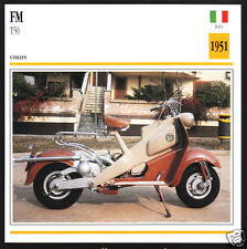 1951 FM F.M. T50 Tipo 50 125cc Scooter Moped Italy Motorcycle Photo Spec Card