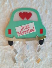 4 Just Married Car cars Diecut paper Weddings Anniversaries celebration party