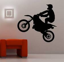 énorme MOTOCROSS MOTO art mural autocollant vinyle CHAMBRE D'ENFANT