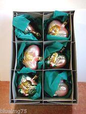 Old World Christmas Inge Glass Ornaments Victorian Angel (Set of 6) NIB