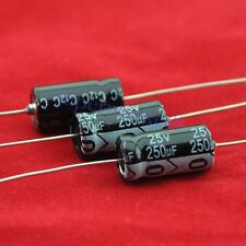 5pcs 25V 250uf Axial Electrolytic Capacitor for Audio Guitar Tube Amp DIY