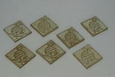 "7 Small Square Wall Kitchen Backsplash 3"" Pineapple Embossed Tiles"