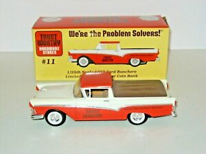 TRUST WORTHY 1957 Ford Ranchero Limited Edition Die Cast Coin Bank, 1/25th Scale