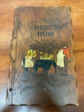 Vintage Here's How Mixed Drinks Book BY W.C. Whitfield 1941 Hinged Wood Cover