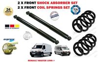 FOR RENAULT MASTER BUS VAN 1998-> 2X FRONT SHOCK ABSORBER SET + COIL SPRINGS KIT