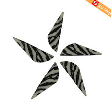 "100X 2"" Arrow Vanes Fletching White Striped HP Material Archery DIY Vanes"