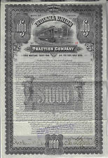 INDIANA 1903 Indiana Union Traction Company Bond Stock Certificate #13 ABN