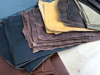 LEATHER SHEETS 1 SQ FT 1/2/3/4mm THICK BLACK BROWN AND OFFCUTS LEATHER CRAFT