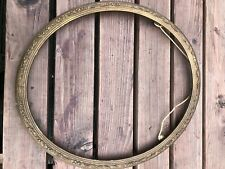More details for early 1900s quality ornate oval picture frame !