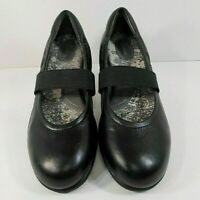 Soft Walk Womens Mary Jane Shoes Sz 10 N Elastic Strap Soft Insoles Flats Black