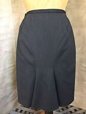 GIORGIO ARMANI Collection BUSTLE SKIRT Charcoal Gray Lined WOOL-Blend 8
