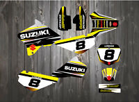 CustomMX - Graphics Kit to fit SUZUKI RM85 RM80 number board backgrounds