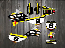 SUZUKI RM85 MOTOCROSS BACKGROUNDS RM 80cc DECALS / STICKERS / GRAPHICS