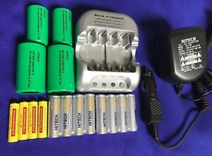 16 of(8 AA+4 AAA+2C+2D size)Rechargeable/Adapter+FREE GIFT: AA/AAA AC/DC Charger