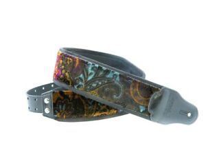 Jazz Sinbad Unic Paisley Guitar Strap by Right On Hand Made in Spain