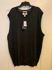Joseph Abboud Men's V-Neck 100% EF Merino Wool Sweater Vest Size XXL Dk Gray NWT