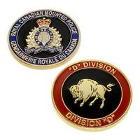 """RCMP Police Challenge Coin """"D"""" Division Unit Royal Canadian Mounted Police"""
