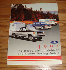 Original 1991 Ford Recreation Vehicle & Trailer Towing Guide Sales Brochure 91