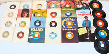 Lot 25+ 45 RPM Records MIXED 80's Rock Other Condition Varies see Photos LOT3