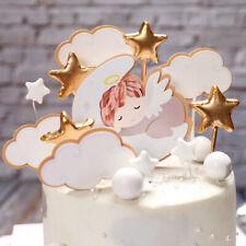 angel baby cloud cake topper for birthday baby shower cake desert decortion