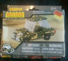 NEW Best Lock Construction Toy ------ Mini Army Camo Jeep