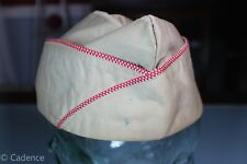 US WW2 Army Khaki Overseas Garrison Hat Cap Corps of Engineers Size 7 1/4 86