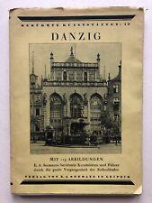 Danzig , 113 Abbildungen, extrem Selten, E.A. Seemanns Kunststätten, 1913