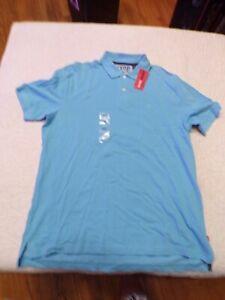 NWT Blue IZOD Polo Shirt Size L