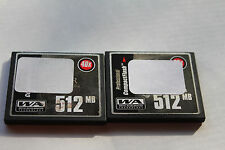 2pcs 512mb LEXAR got stickers on Compact flash memory for CF cameras