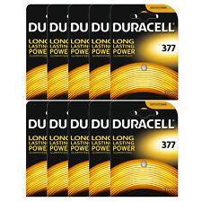 10 x Duracell 377 1.5v Reloj De Óxido De Plata Pilas de batería SR626SW AG4 626 D377