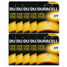 10 x Duracell 377 1.5v Silver Oxide Watch Battery Batteries SR626SW AG4 626 D377