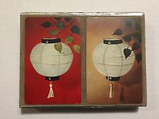 Vintage 1950s Asian Paper Lantern Congress Playing Cards Double Deck Oriental