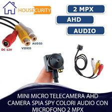 MINI MICRO TELECAMERA AHD CAMERA SPIA SPY COLORI AUDIO CON MICROFONO 2 MPX