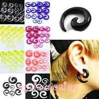 Gauge Punk Snail Spiral Acrylic Hook Taper Ear Plug Earring Expander Stretcher
