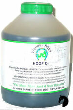 Worlds Best Hoof Oil bush in lid year round dressing grease Horse Pony Stable 1l